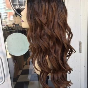 Accessories - Wig Ombré Deep Wave warm brown Swisslace lacefront